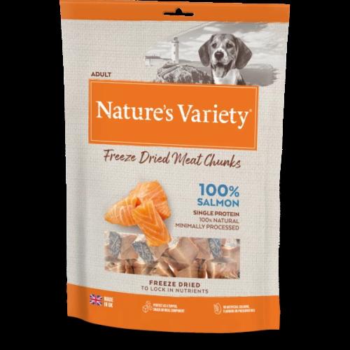 Natures Variety Freeze Dried Salmon Real Chunks Dog Food