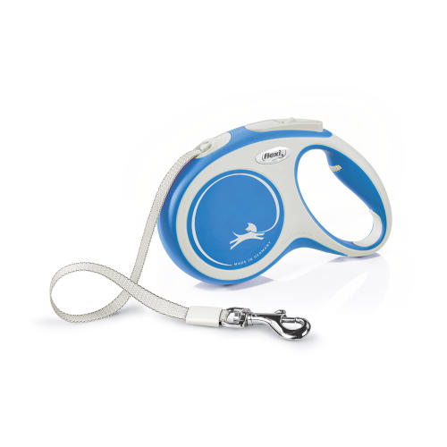 Flexi New Comfort 5m Tape Dog Lead in Blue