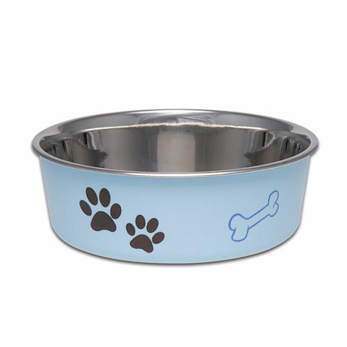 Bella Bowls Stainless Steel Murano Blue Dog Bowl