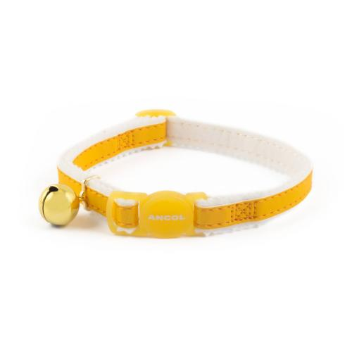 Ancol Reflective Safety Buckle Cat Collar in Yellow