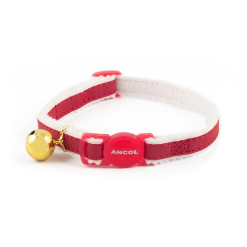 Ancol Reflective Safety Buckle Cat Collar in Red
