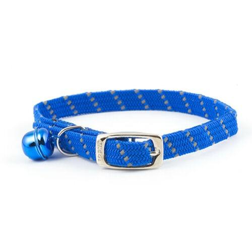 Ancol Safety Elastic Softweave Cat Collar in Blue