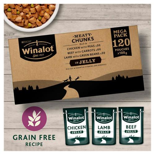 Winalot Meaty Chunks Mixed in Jelly Wet Adult Dog Food