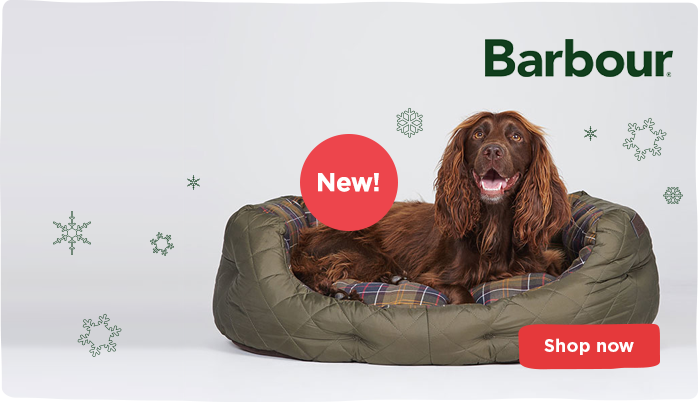 Barbour dog beds and coats