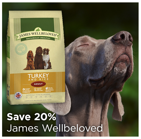 Save 20% on James Wellbeloved Dry Dog Food