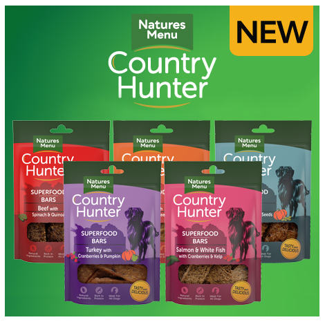 New Country Hunter Superfood Treat Bars for Dogs