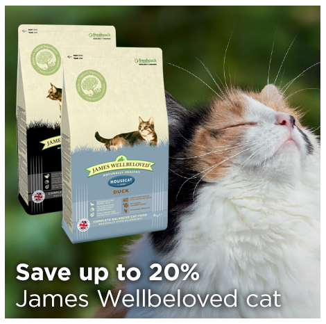 Save up to 20% on James Wellbeloved Cat Food