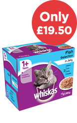 80 Whiskas Cat Food Pouches Only £19.50