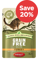 Save 20% on James Wellbeloved Cat Food