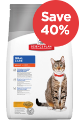 Save 40% on Hills Science Plan Cat Food