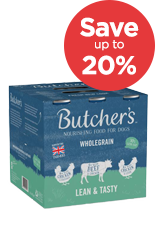 Save up to 20% on butchers wet dog food