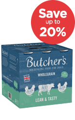 Save 20% on Butchers wet dog food tins