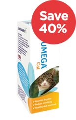 Yumega Cat Skin & Coat Supplement Save 40%