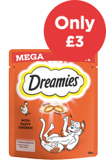 Dreamies Mega Packs only £3