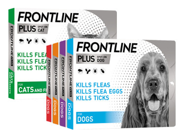 Buy one get one half price on Frontline Plus Flea & Tick