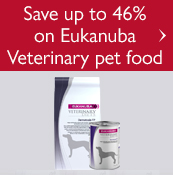 Save up to 46% on Eukanuba Veterinary pet food