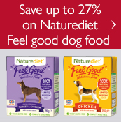 Save up to 27% on Naturediet Feel Good dog food