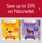 Save up to 33% on Naturediet Feel good dog food