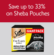 Save up to 33% on Sheba