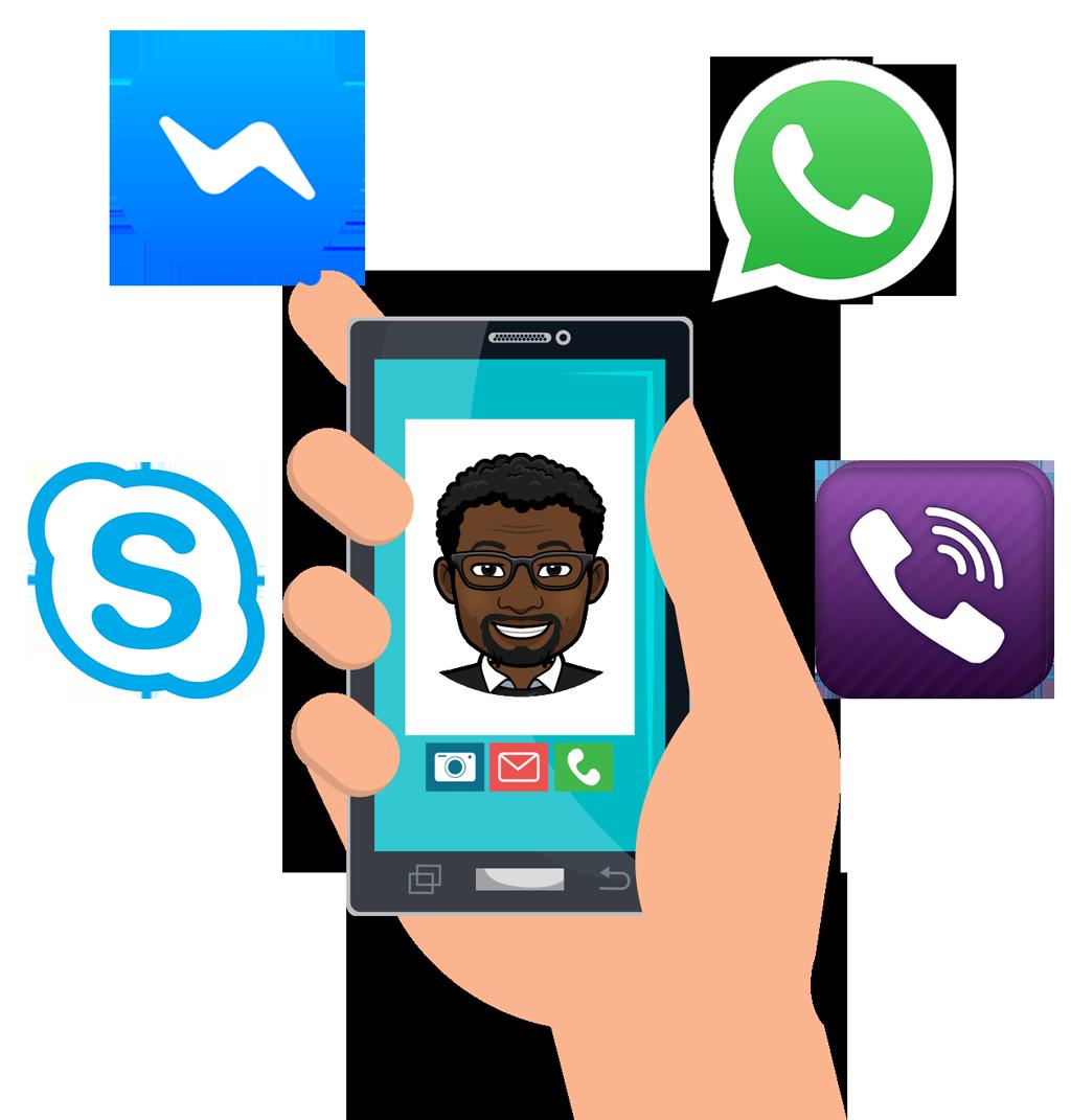 Joignable avec messenger: Skype-Facebook-Whatsapp-Viber