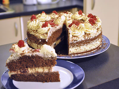 Black Forest Gateau cross section