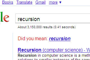Did you mean recursion?