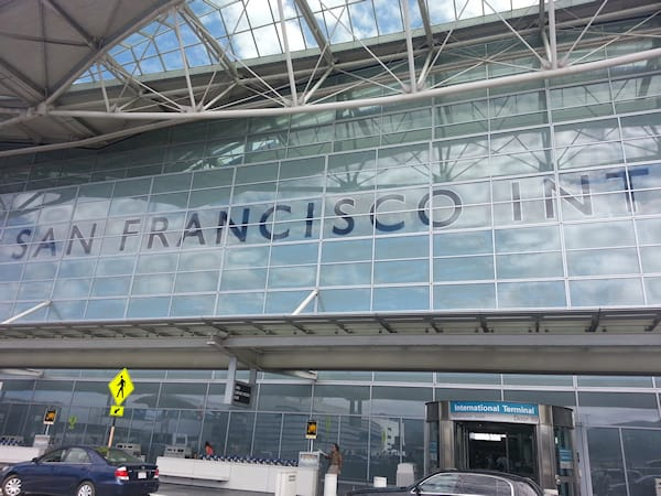 San Francisco International Airport entrance/exit