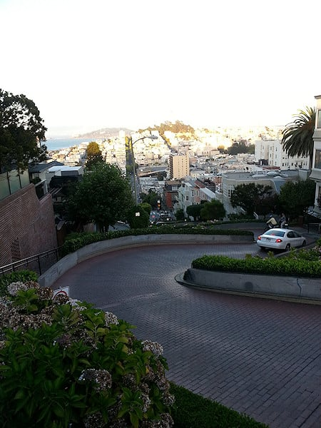 Lombard Street, from the top