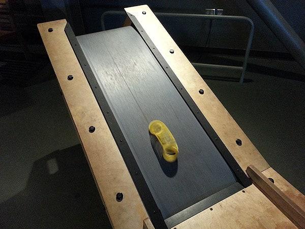 Slinky on a treadmill