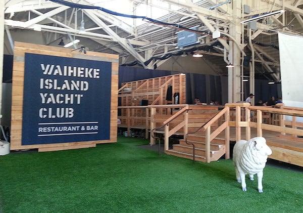 Waiheke Island Yacht Club restaurant