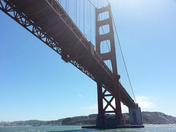 Under Golden Gate Bridge