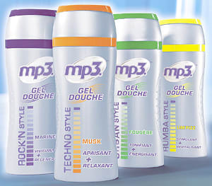 mp3 gel douche