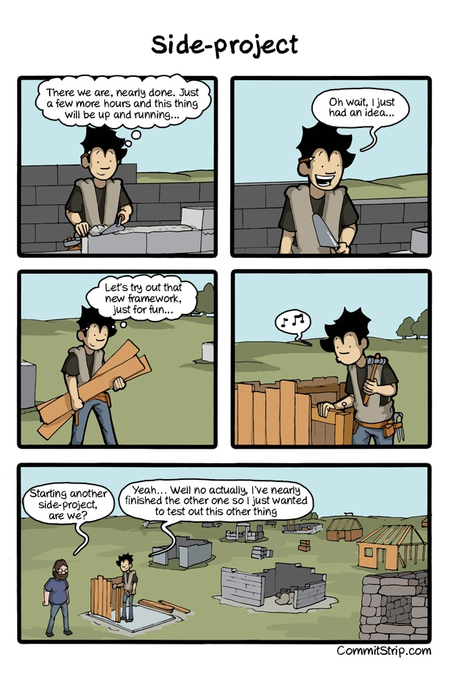 A comic about developers and their side projects