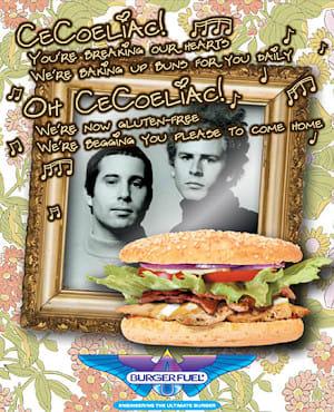 Burger Fuel gluten-free buns flyer