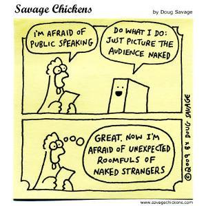 Chicken public speaking