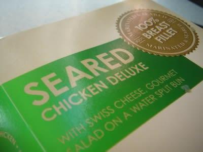 Seared Chicken Burger box