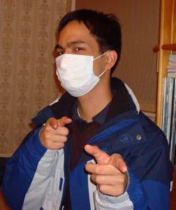 Me and my swine flu mask