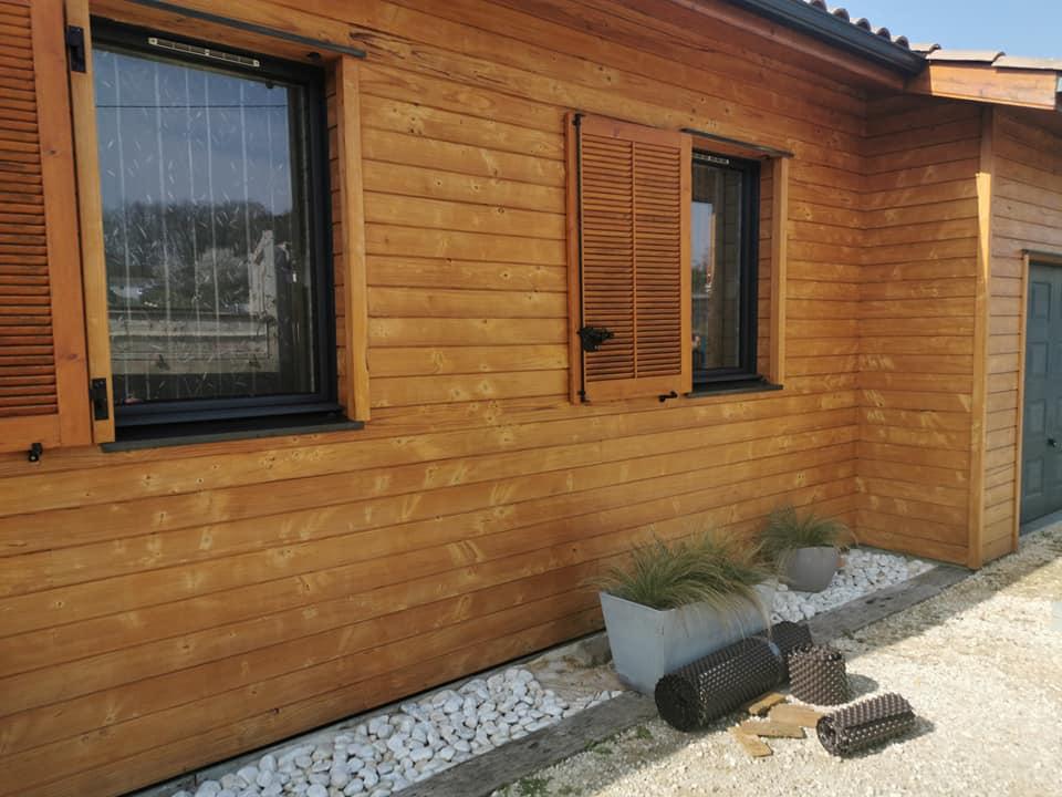 Habillage de maison en bois
