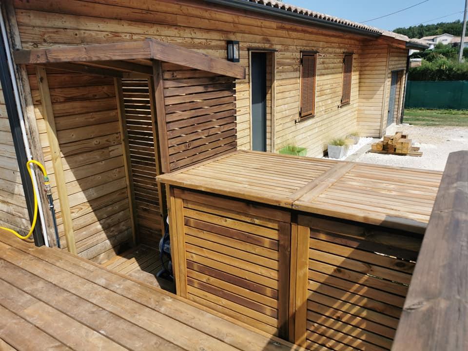 création d'une terrasse et local technique à Croignon