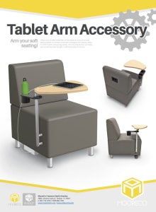 Download Soft Seating Tablet Arm Flyer