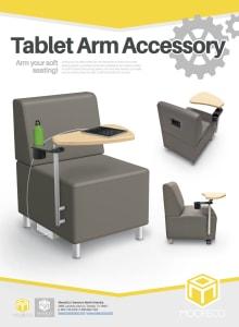 Download Soft Seating Tablet Arm Flyer