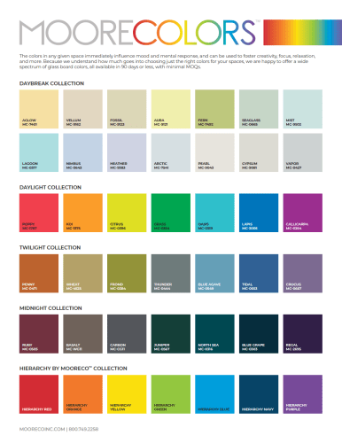 Download MooreColors™ Glass Color Chart