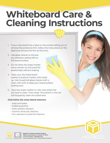 Download Whiteboard Cleaning Instructions