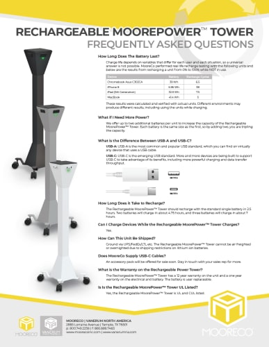 Download Rechargeable MoorePower™ Tower FAQ