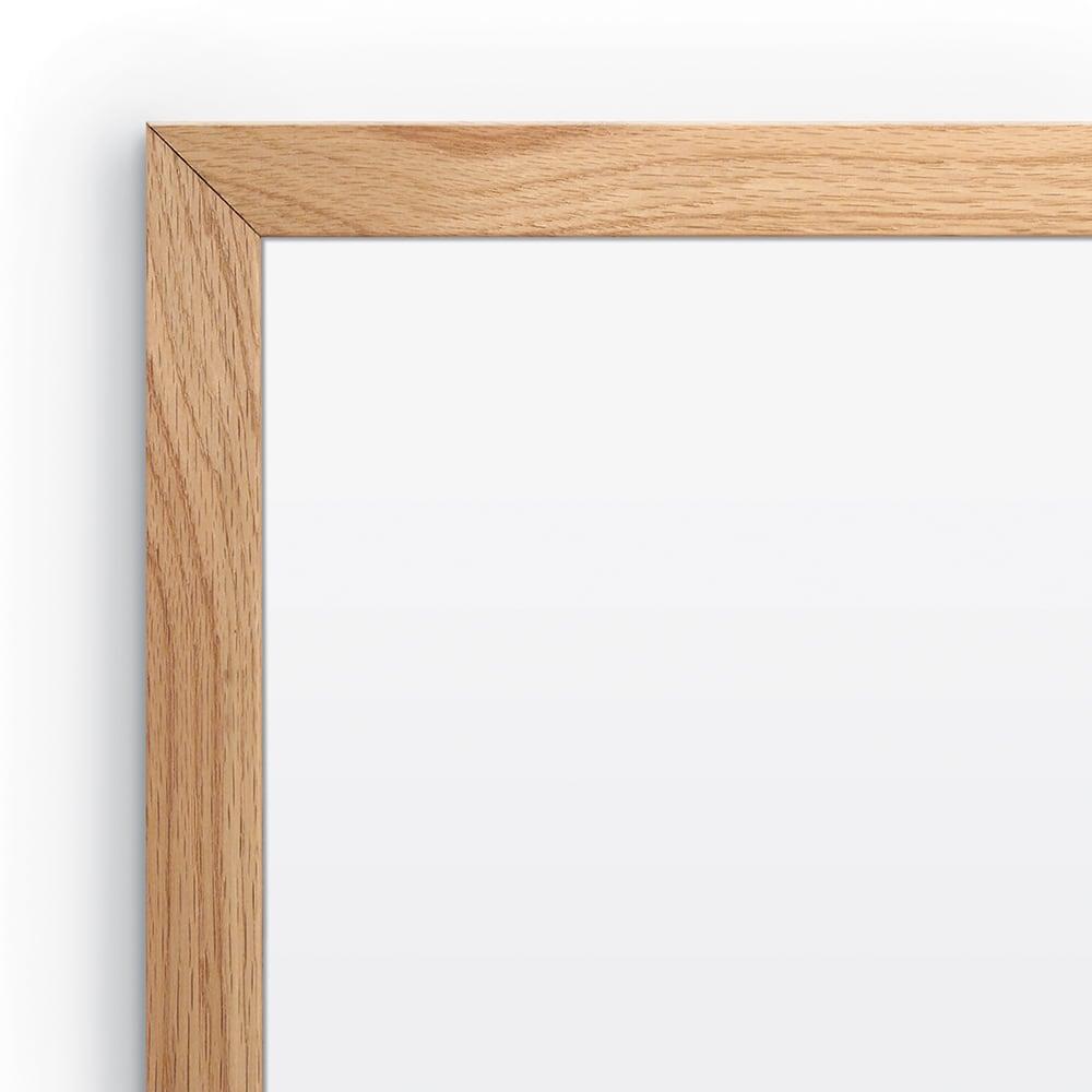 Porcelain Steel Whiteboard with Solid Oak Trim