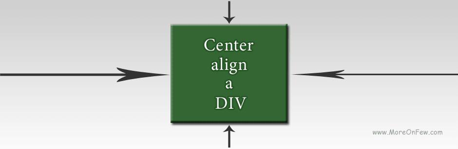 How to center align a Div ?