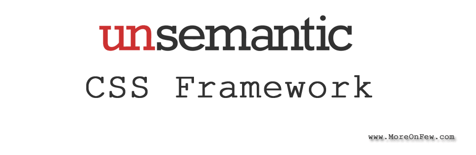 Unsemantic CSS framework tutorial