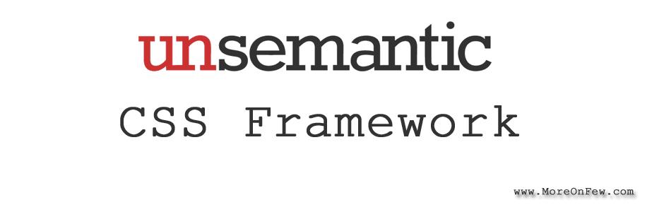Unsemantic CSS framework tutorial