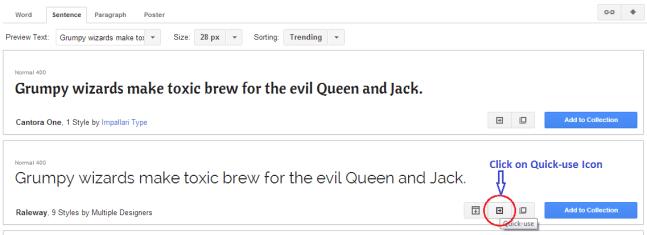 Google Web Fonts Quick-Use