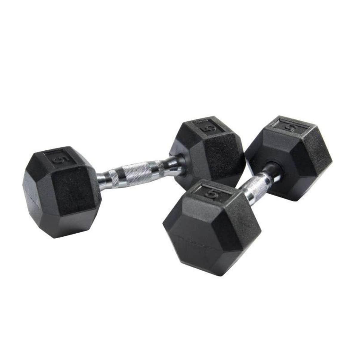 12.5kg Rubber Hex Dumbbell d779f1b838991